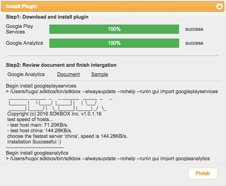 GA with SDKBox GUI in Creator - SDKBOX