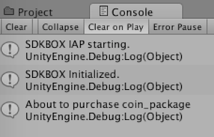 IAP with Unity - SDKBOX